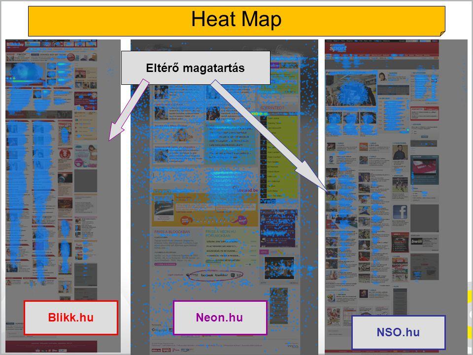 Heat Map Eltérő magatartás Blikk.hu Neon.hu NSO.hu