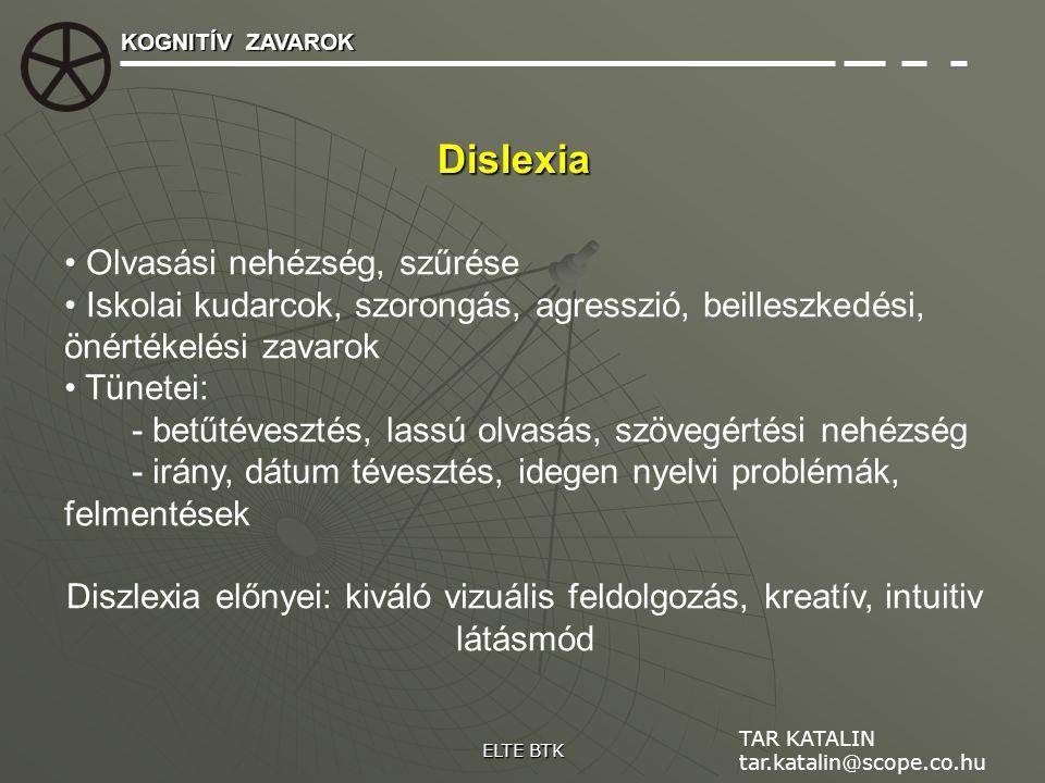 Dislexia Olvasási nehézség, szűrése