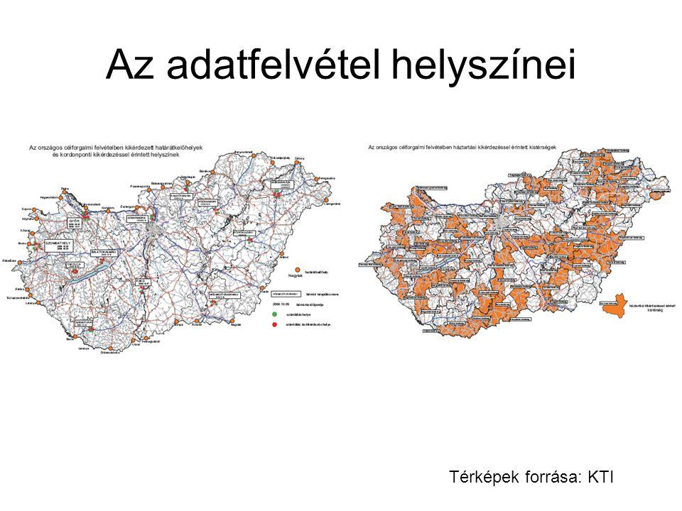 Az adatfelvétel helyszínei