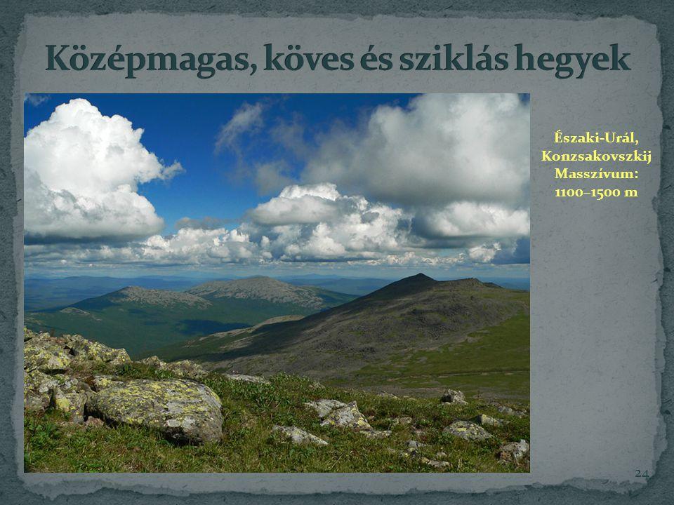 Középmagas, köves és sziklás hegyek