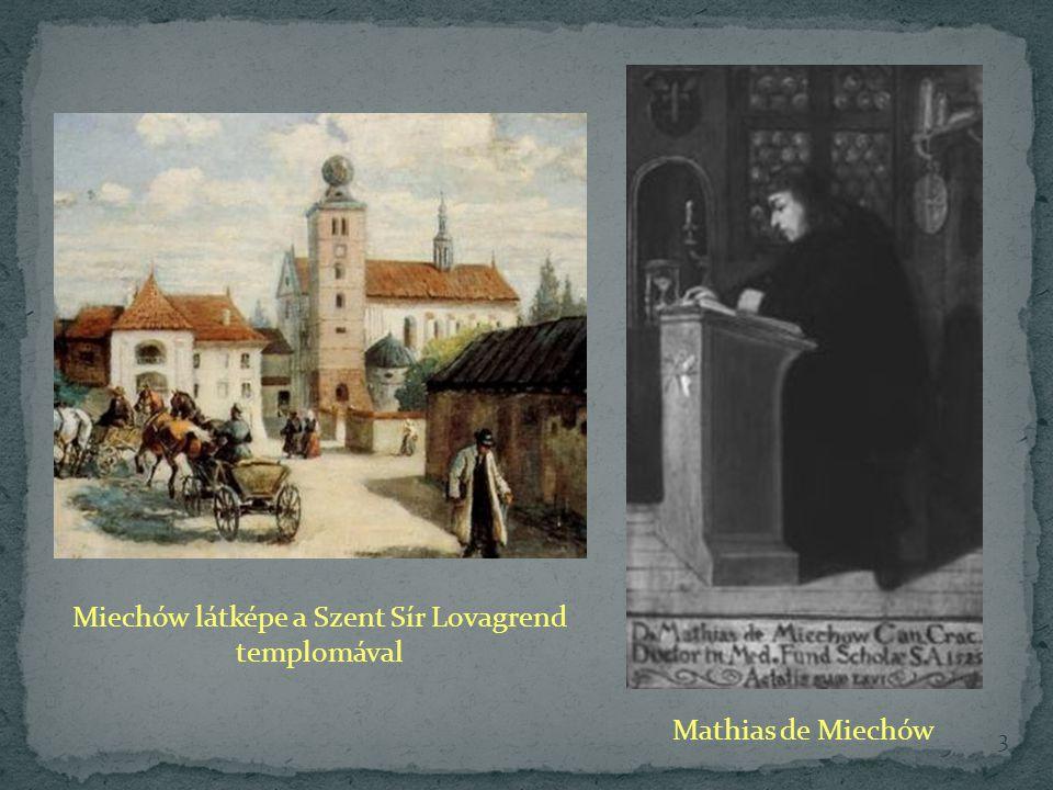 Miechów látképe a Szent Sír Lovagrend templomával