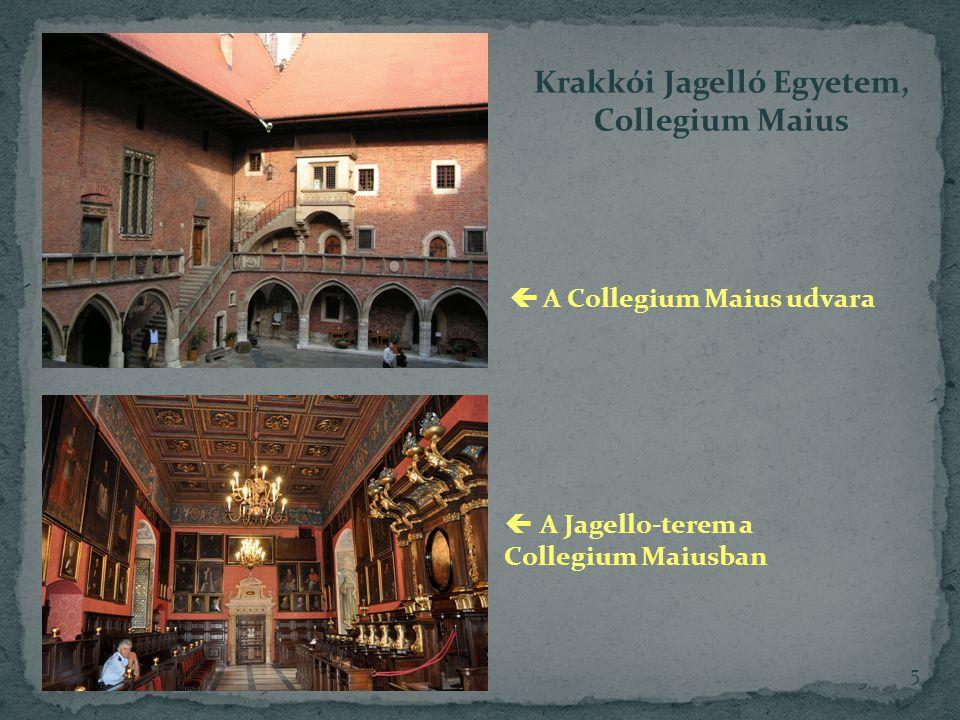 Krakkói Jagelló Egyetem,  A Collegium Maius udvara