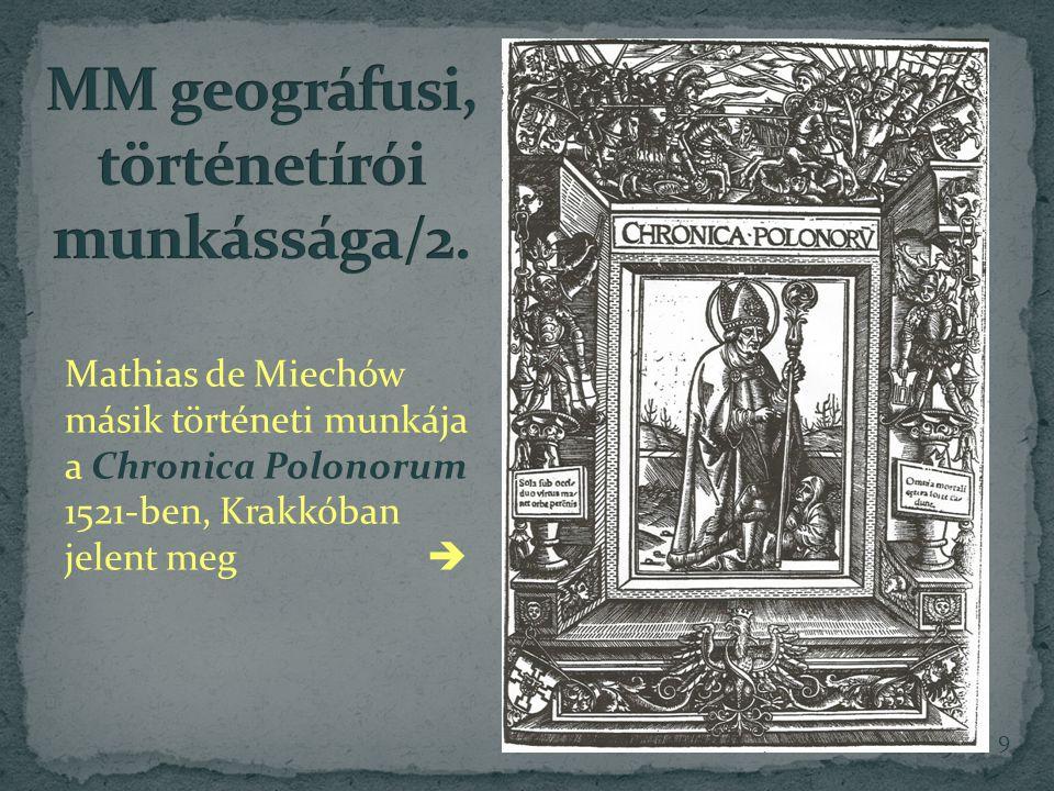 MM geográfusi, történetírói munkássága/2.
