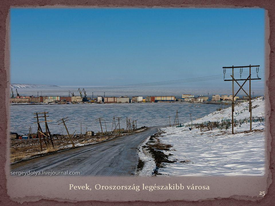 Pevek, Oroszország legészakibb városa