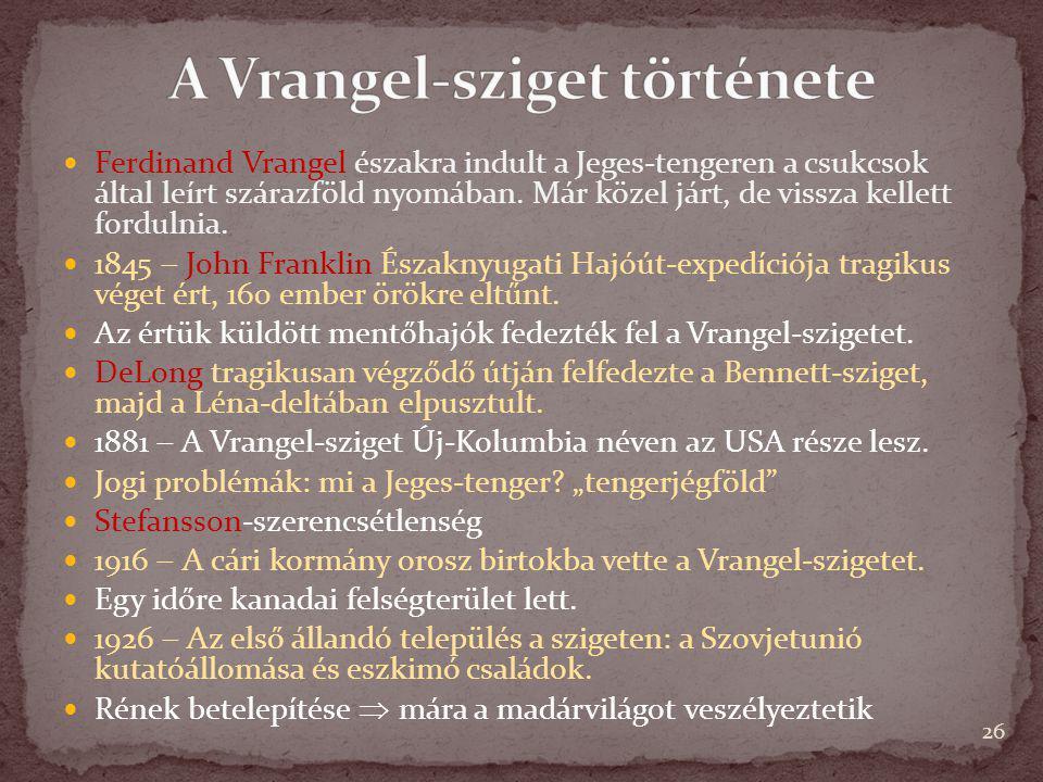 A Vrangel-sziget története