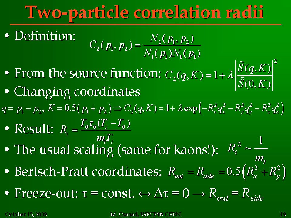 Two-particle correlation radii
