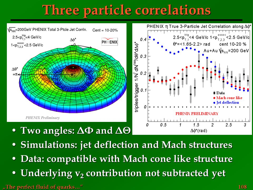 Three particle correlations