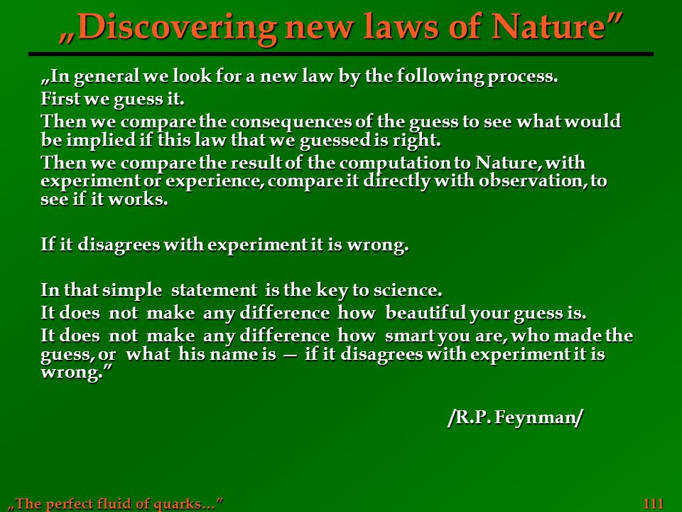 """Discovering new laws of Nature"
