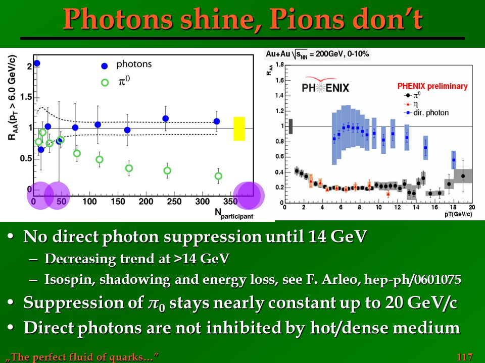 Photons shine, Pions don't