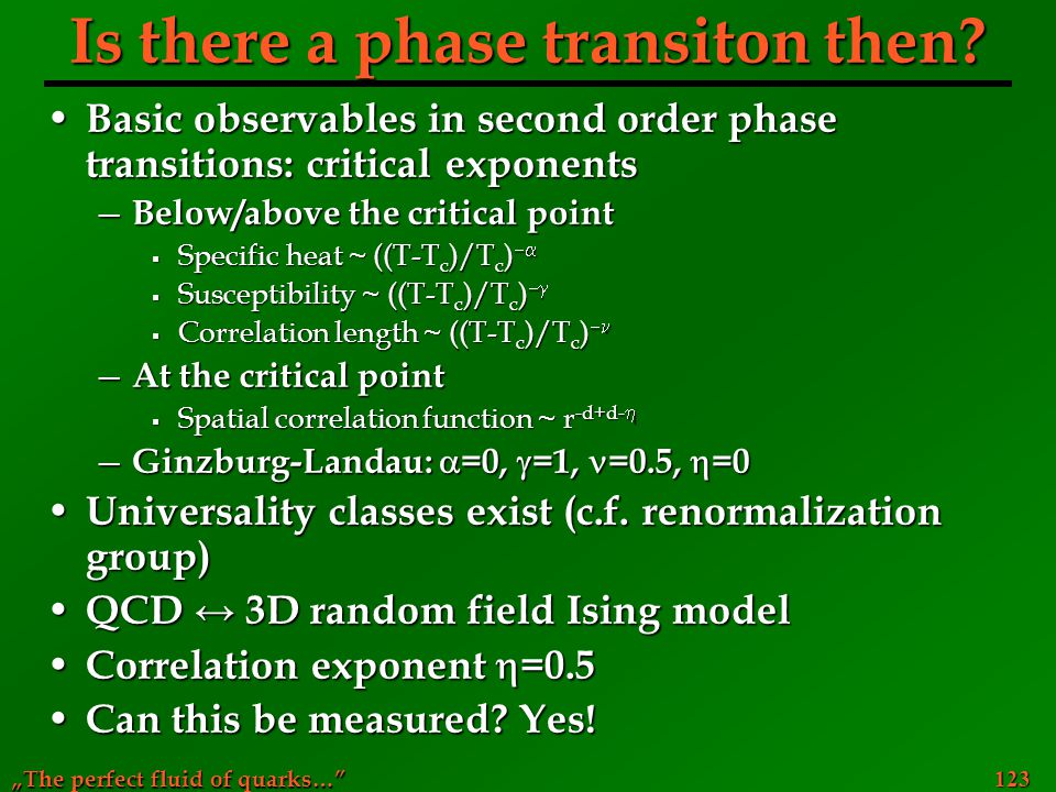 Is there a phase transiton then