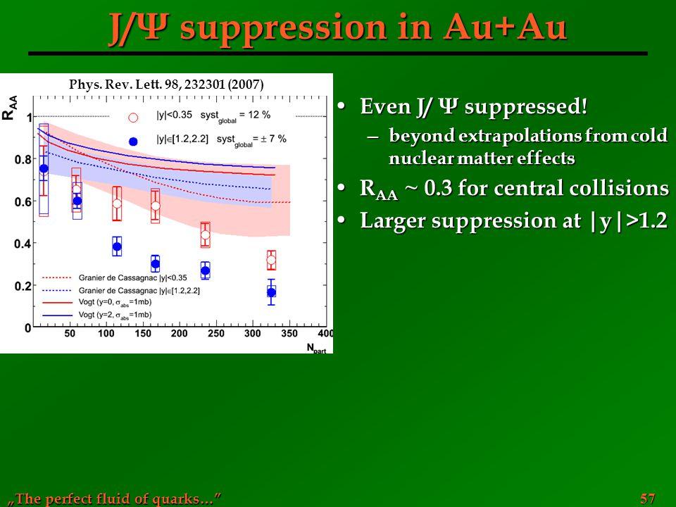 J/Ψ suppression in Au+Au