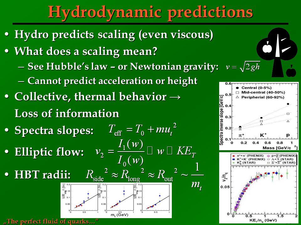 Hydrodynamic predictions