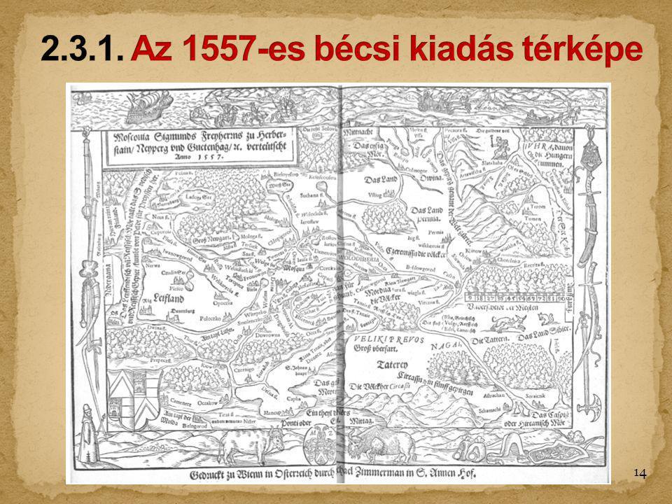 2.3.1. Az 1557-es bécsi kiadás térképe