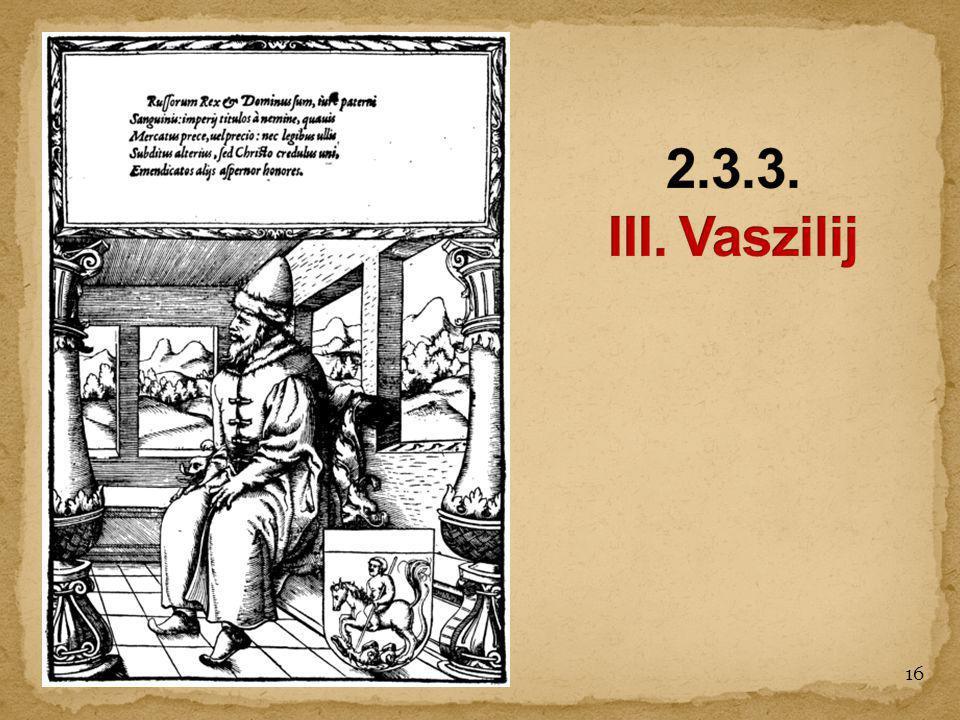 2.3.3. III. Vaszilij