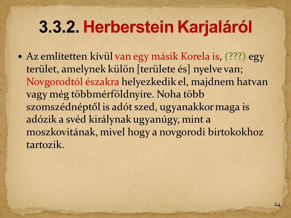 3.3.2. Herberstein Karjaláról