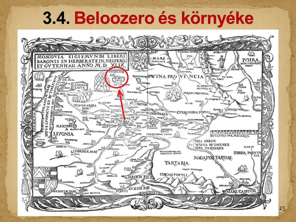 3.4. Beloozero és környéke