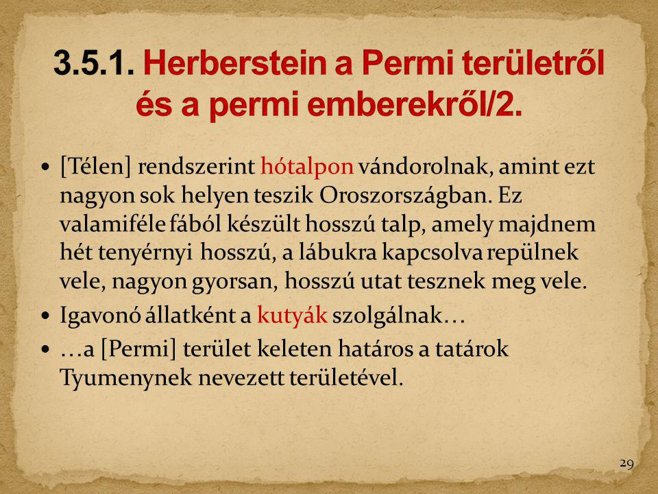 3.5.1. Herberstein a Permi területről és a permi emberekről/2.