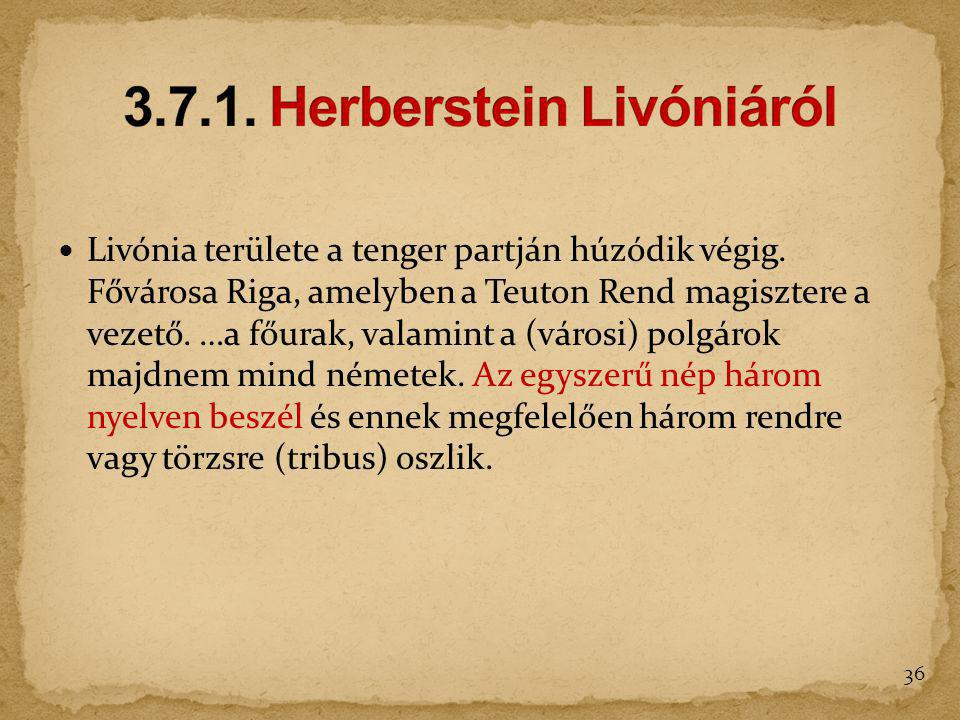 3.7.1. Herberstein Livóniáról