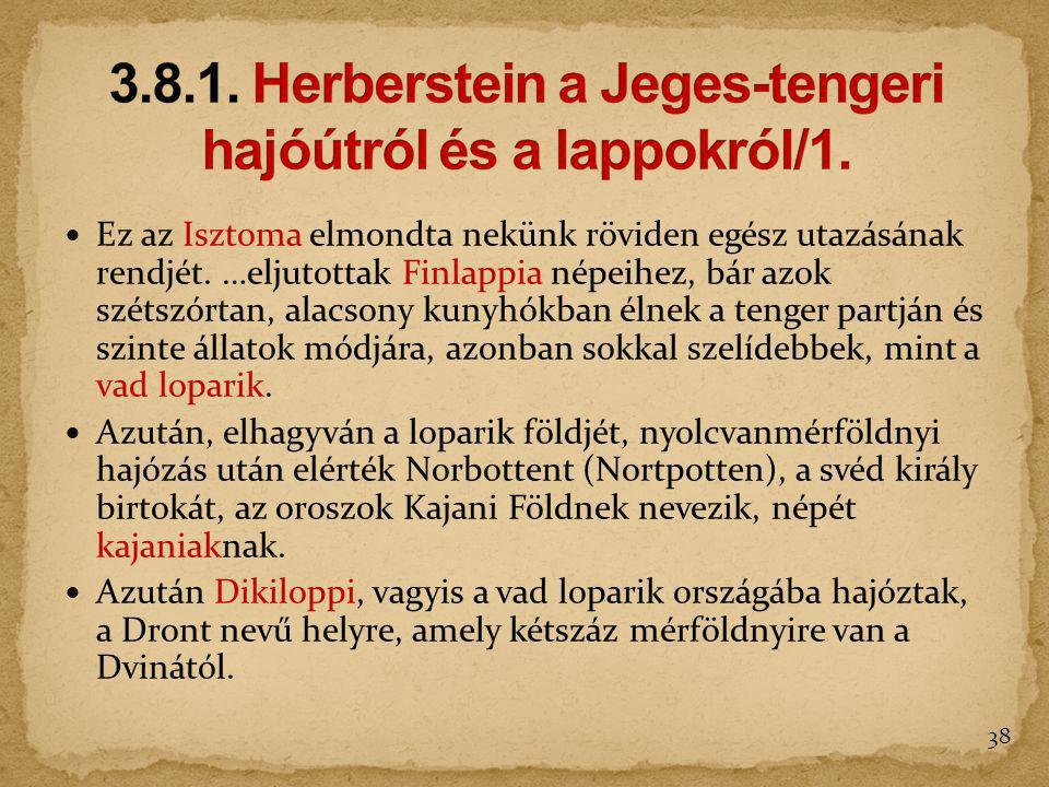 3.8.1. Herberstein a Jeges-tengeri hajóútról és a lappokról/1.