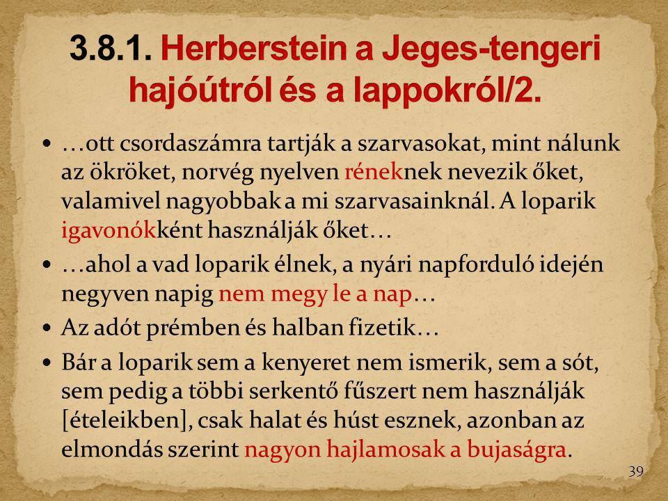 3.8.1. Herberstein a Jeges-tengeri hajóútról és a lappokról/2.