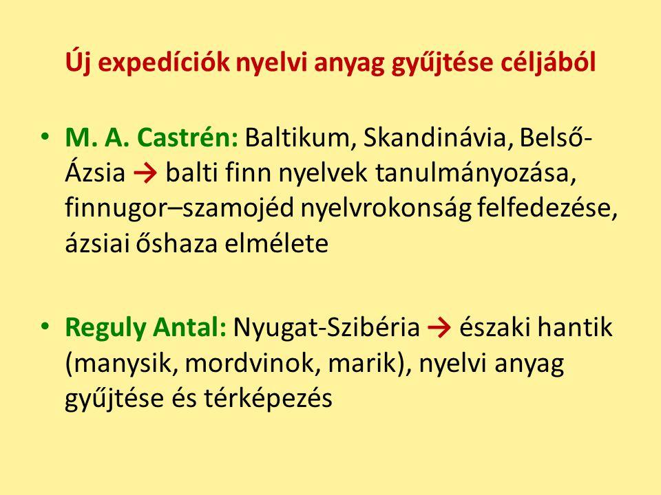 Új expedíciók nyelvi anyag gyűjtése céljából