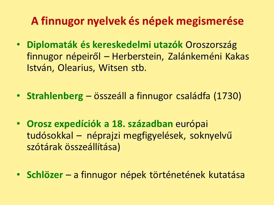 A finnugor nyelvek és népek megismerése