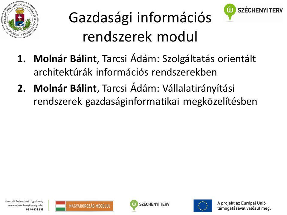 Gazdasági információs rendszerek modul