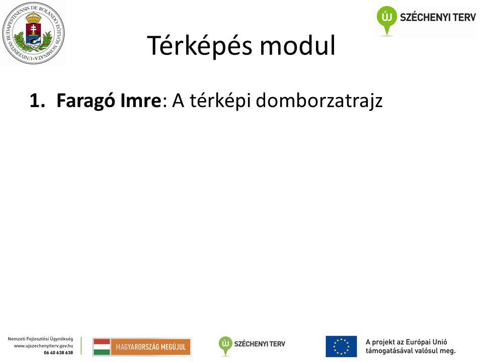Térképés modul Faragó Imre: A térképi domborzatrajz