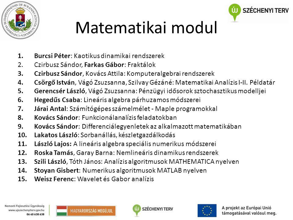 Matematikai modul Burcsi Péter: Kaotikus dinamikai rendszerek