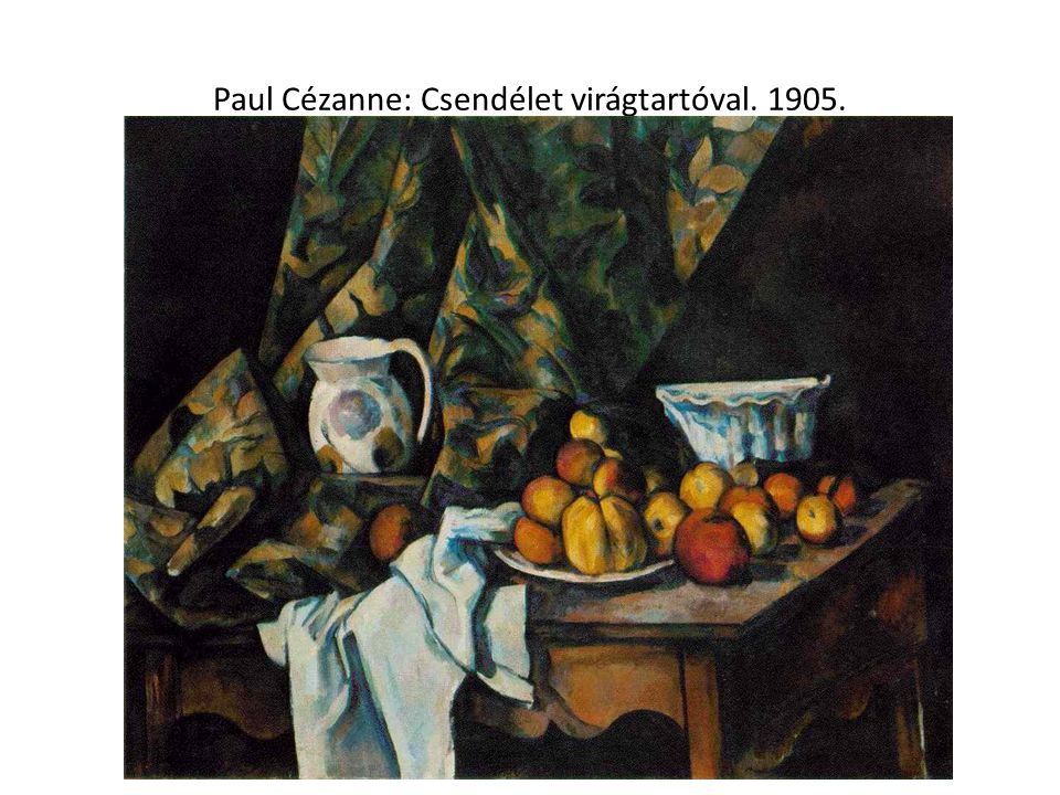 Paul Cézanne: Csendélet virágtartóval. 1905.