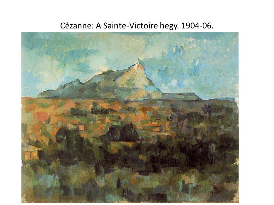 Cézanne: A Sainte-Victoire hegy. 1904-06.