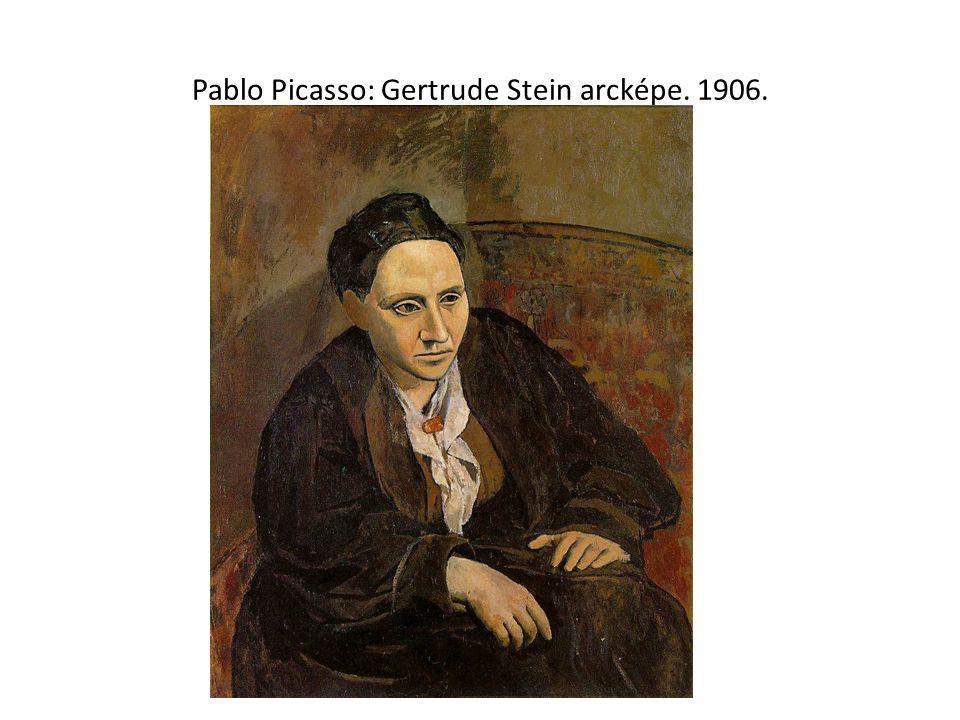 Pablo Picasso: Gertrude Stein arcképe. 1906.