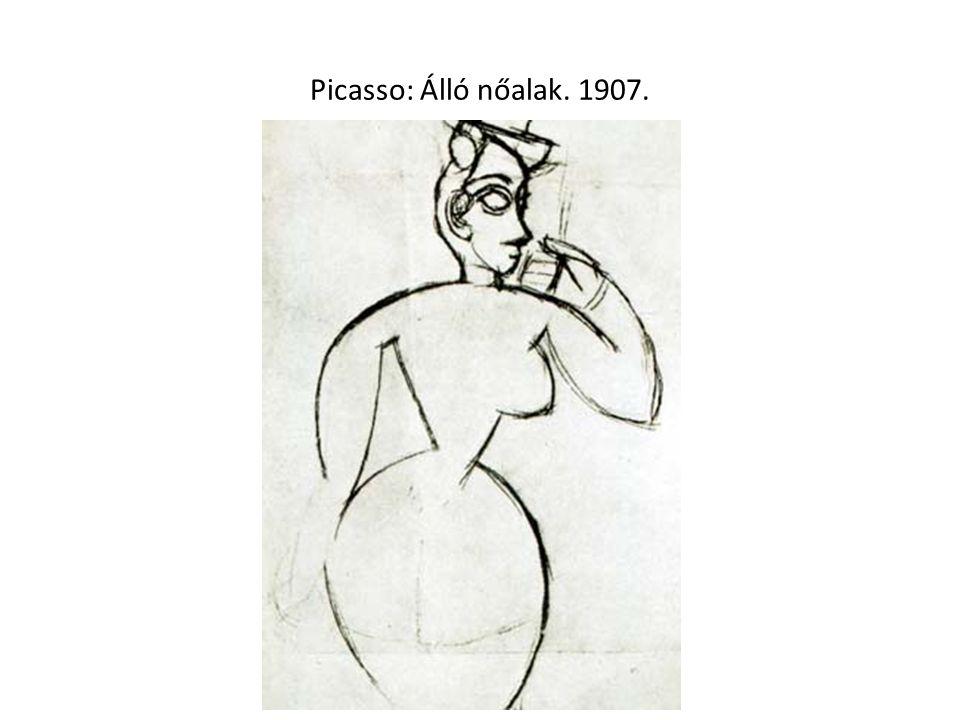 Picasso: Álló nőalak. 1907.