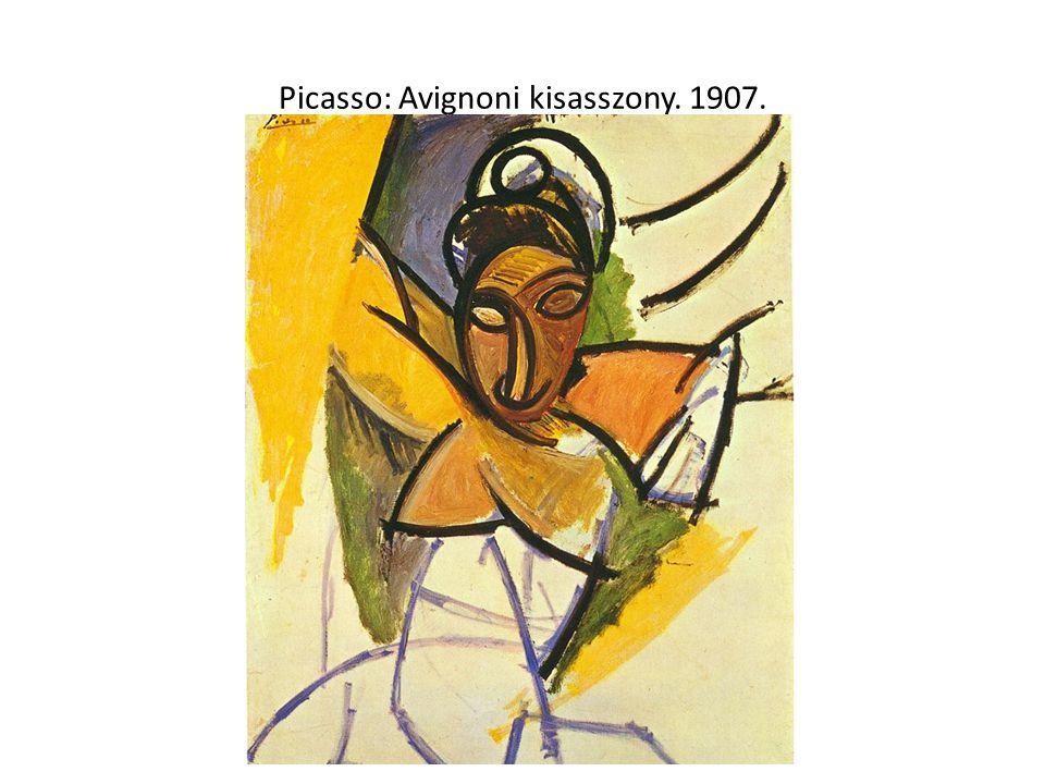 Picasso: Avignoni kisasszony. 1907.