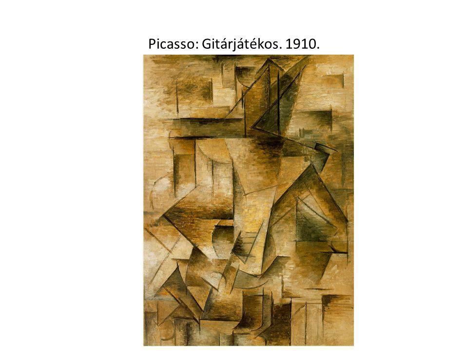 Picasso: Gitárjátékos. 1910.