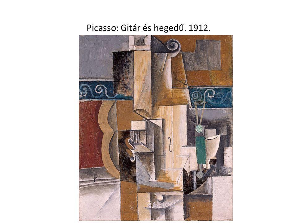Picasso: Gitár és hegedű. 1912.