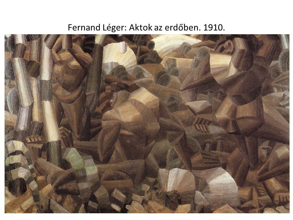 Fernand Léger: Aktok az erdőben. 1910.