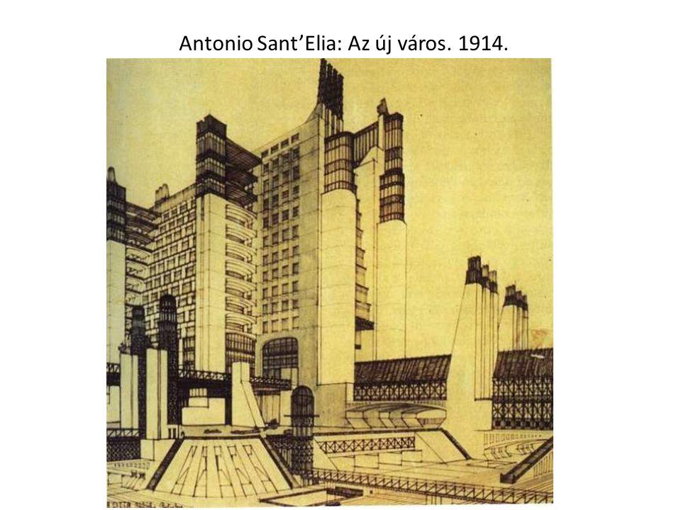 Antonio Sant'Elia: Az új város. 1914.