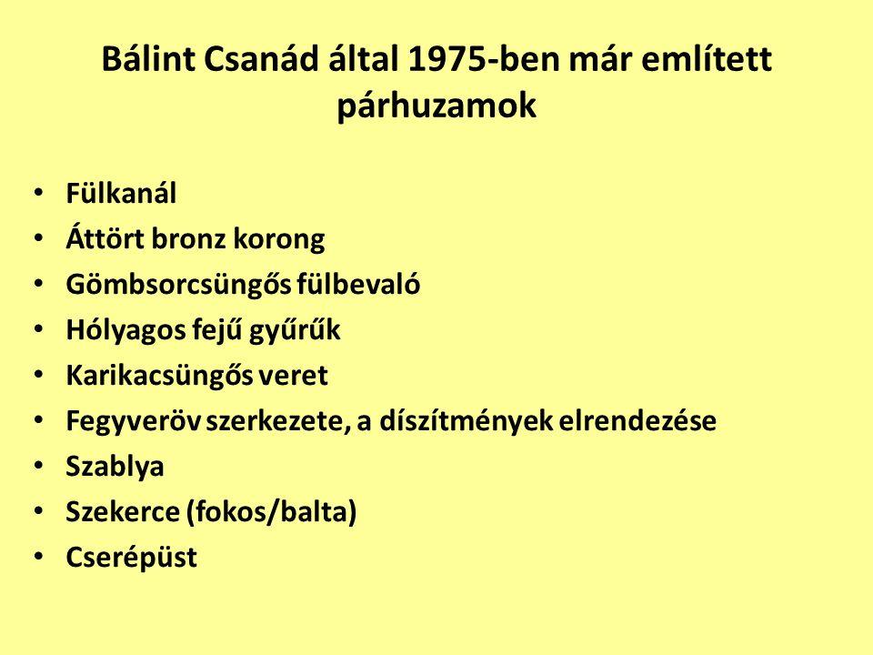 Bálint Csanád által 1975-ben már említett párhuzamok