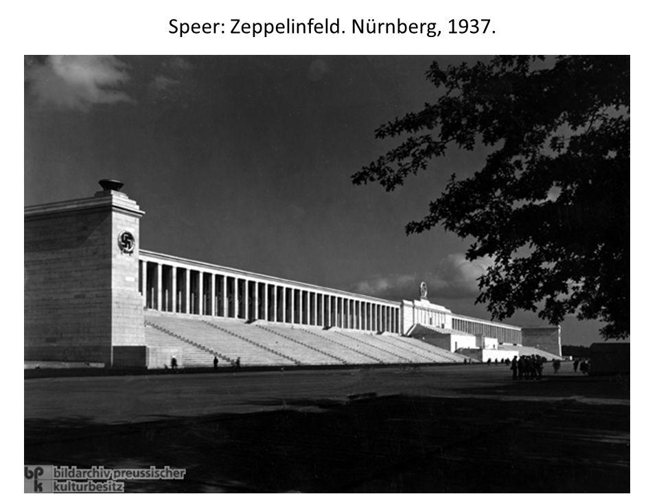 Speer: Zeppelinfeld. Nürnberg, 1937.