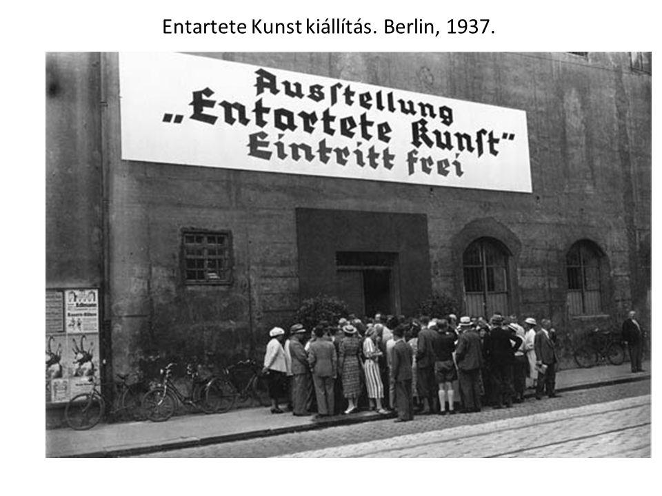 Entartete Kunst kiállítás. Berlin, 1937.