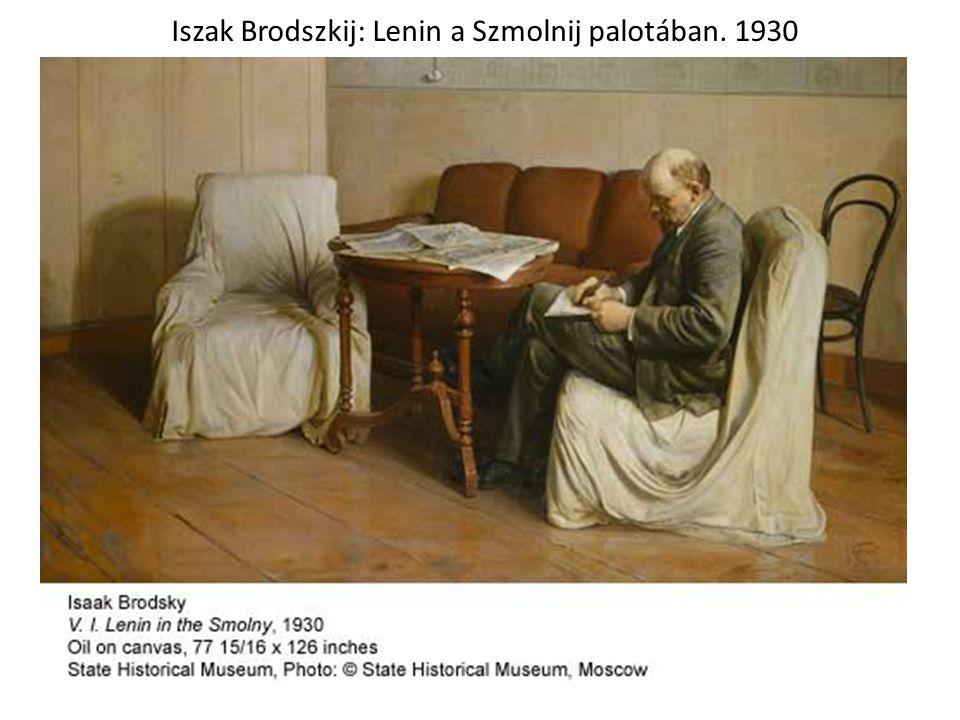 Iszak Brodszkij: Lenin a Szmolnij palotában. 1930
