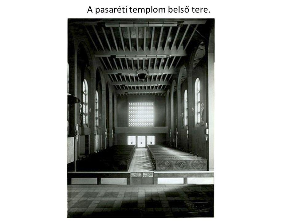 A pasaréti templom belső tere.