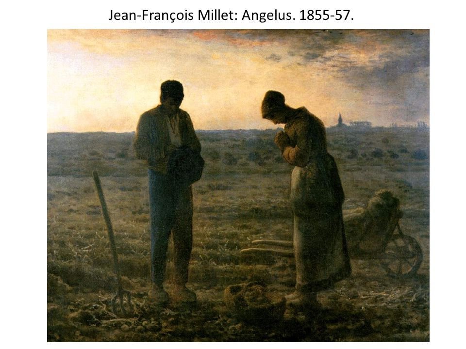 Jean-François Millet: Angelus. 1855-57.