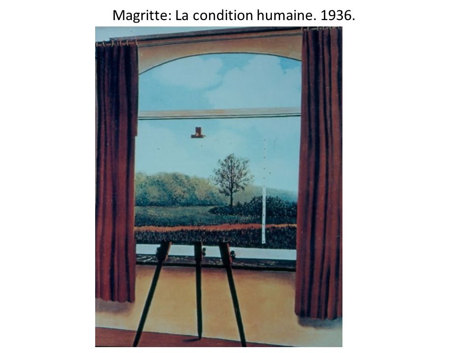 Magritte: La condition humaine. 1936.