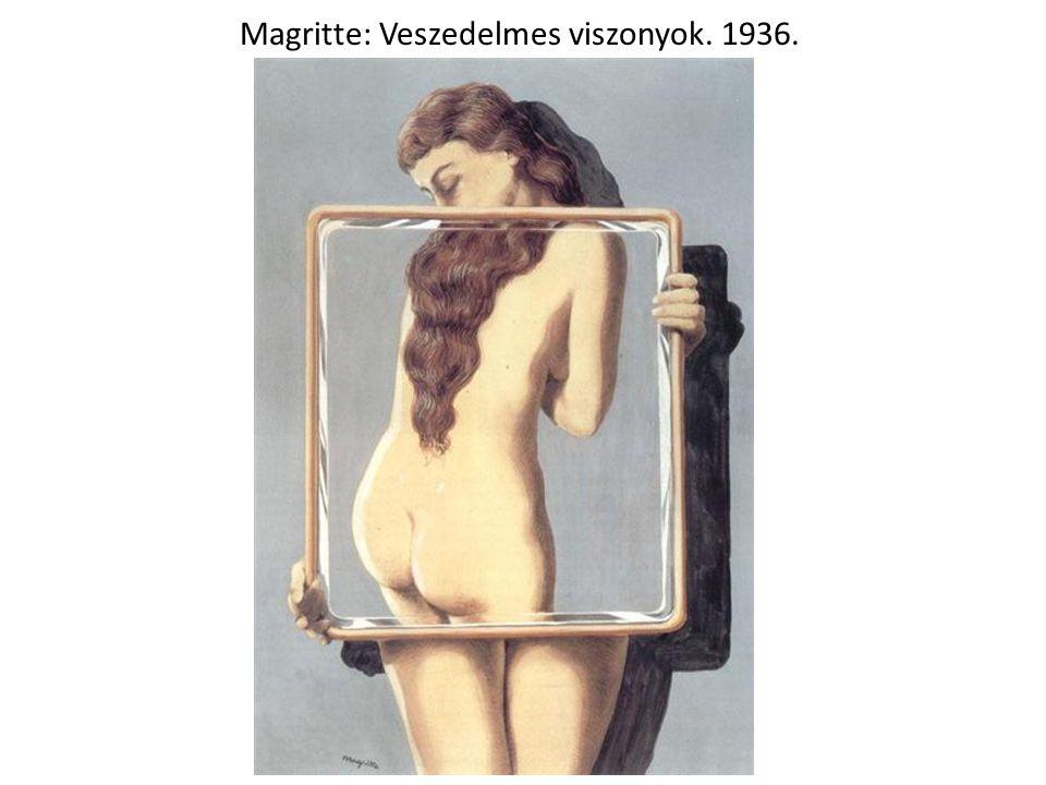 Magritte: Veszedelmes viszonyok. 1936.