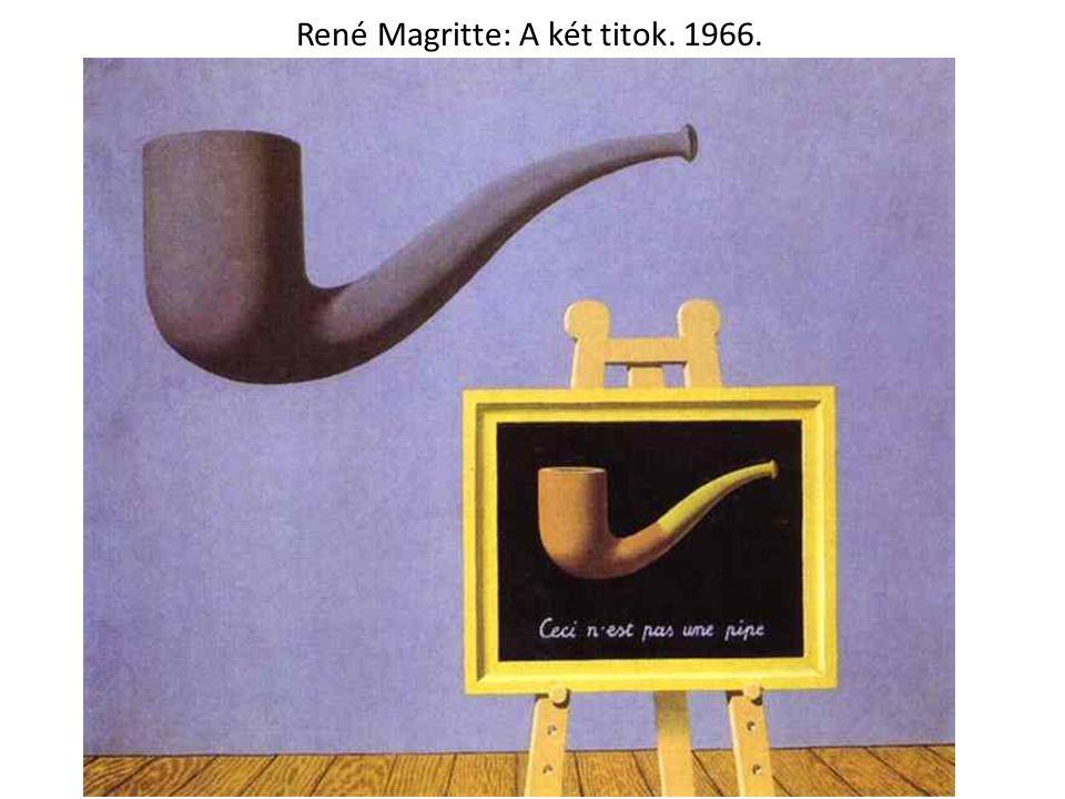 René Magritte: A két titok. 1966.