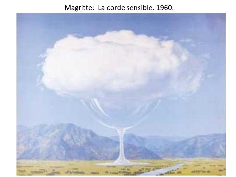 Magritte: La corde sensible. 1960.