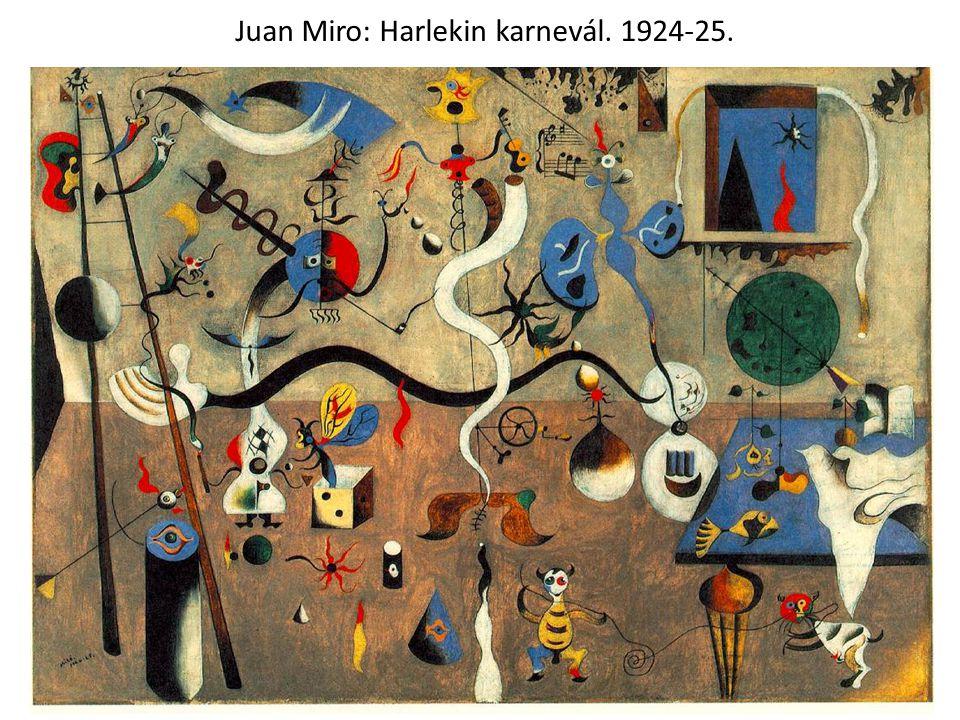 Juan Miro: Harlekin karnevál. 1924-25.