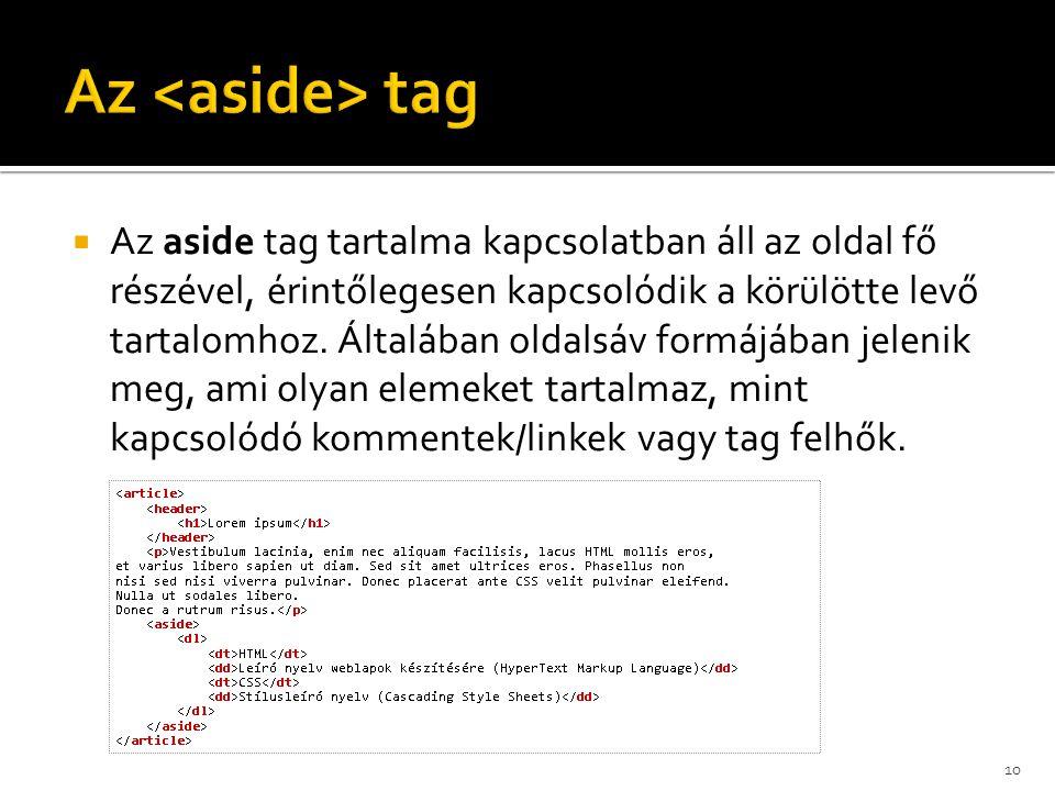 Az <aside> tag